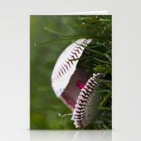 Broken Baseball  Stationery Cards