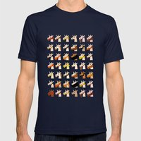 Bearded Unicorn Mens Fitted Tee Navy SMALL