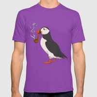 Puffin' Mens Fitted Tee Ultraviolet SMALL