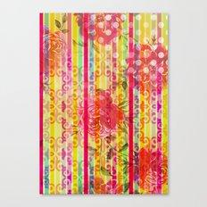 Retro Pattern Collage Canvas Print