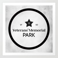 Veterans' Memorial Park Art Print