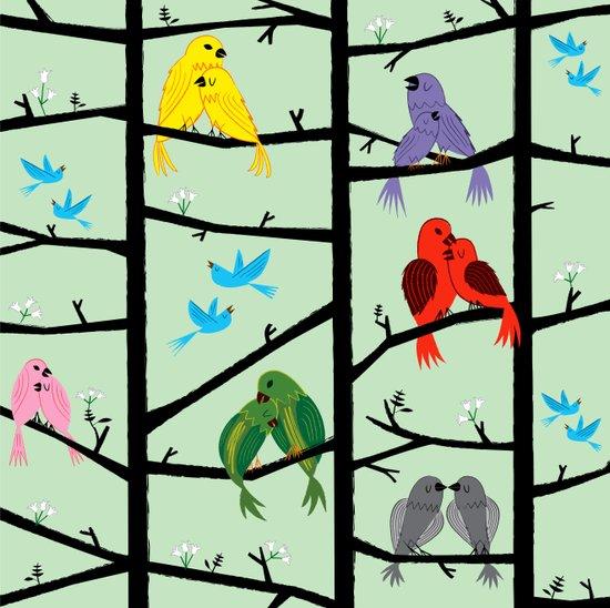 The Lovebirds Art Print