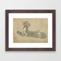 skate rat  Framed Art Print