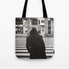 black hood Tote Bag