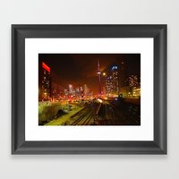 Down Town Toronto (colou… Framed Art Print