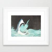 Great White Framed Art Print