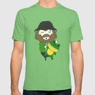 Jim Mens Fitted Tee Grass SMALL