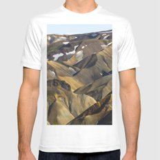 ICELAND II SMALL Mens Fitted Tee White