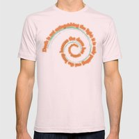 Light and Death II Mens Fitted Tee Light Pink SMALL
