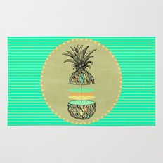 Sliced pineapple Rug
