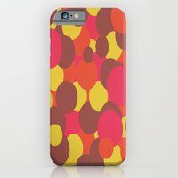 Autumn Retro Circles Des… iPhone 6 Slim Case