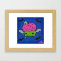 Creepcake Bat Framed Art Print