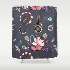 camtric fantasy pattern Shower Curtain
