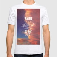 faith  Mens Fitted Tee Ash Grey SMALL