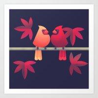 Northern Cardinals On A … Art Print