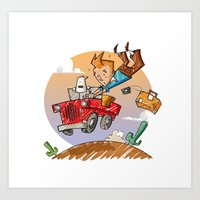 Tintin and Snowy! Art Print