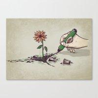Nature Pen Canvas Print