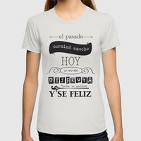 ¡Vive el presente! Womens Fitted Tee Silver SMALL