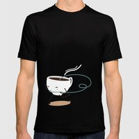 Seb, the cup of coffee Mens Fitted Tee Black SMALL