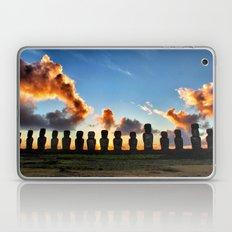 Sunrise behind the Moai Laptop & iPad Skin