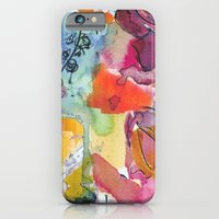 Abstract floral watercolour iPhone 6 Slim Case