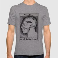 War Is A Mind Infection Mens Fitted Tee Athletic Grey SMALL
