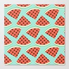 Juicy Melons Canvas Print