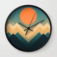 Wall Clock featuring Inca by Budi Kwan