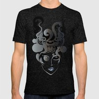 Horn Mens Fitted Tee Tri-Black SMALL