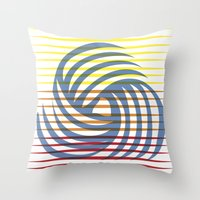wirbelnde sonne Throw Pillow
