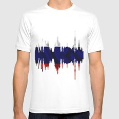 Moscow city silhouette SMALL Mens Fitted Tee White