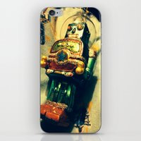 Vintage Christmas Robot iPhone & iPod Skin