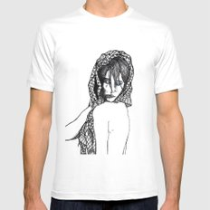 Girl 5 White Mens Fitted Tee SMALL