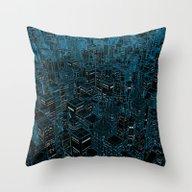 Night Light City / Linea… Throw Pillow
