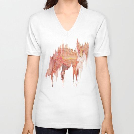 Remix Red Fox V-neck T-shirt