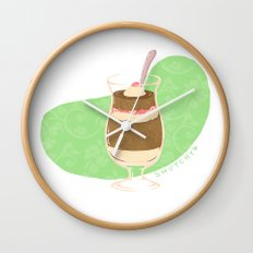 Strawberry Mocha Parfait Wall Clock