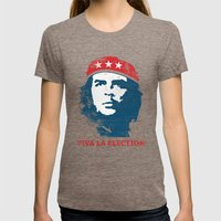 Viva La Election! Womens Fitted Tee Tri-Coffee SMALL