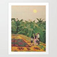 Flying Through The Field… Art Print
