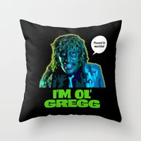 Old Gregg Throw Pillow