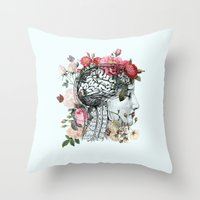 Beautiful Brain Throw Pillow