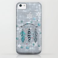 Winter Feathers And Bow iPhone 5c Slim Case