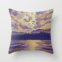 Okanagan Landscape in Purple and Hansa Throw Pillow