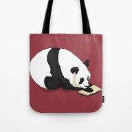 Reading Panda Tote Bag