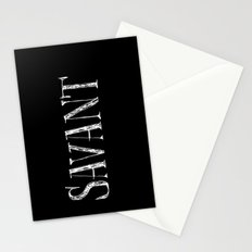 Savant - white on black version Stationery Cards