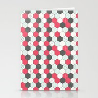 Hexagons Pattern Stationery Cards