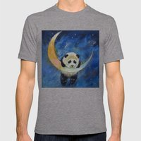 Panda Stars Mens Fitted Tee Tri-Grey SMALL