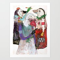 Groupuscule Moinards Art Print