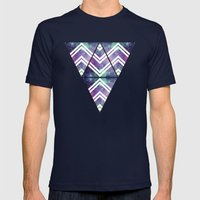Spacey Mens Fitted Tee Navy SMALL