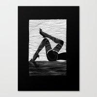 Oh la la - black & white Canvas Print