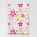 Inky Floral Stationery Cards